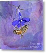Deep In Purple Metal Print