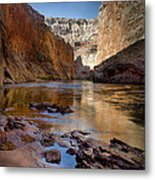Deep Inside The Grand Canyon Metal Print