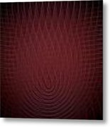 Deep Red Fractal Background Metal Print