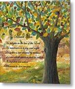 Deep Roots-with Scripture Metal Print