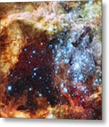 Deep Space Fire And Ice  Metal Print