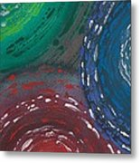 Deepen Abstract Shapes Metal Print
