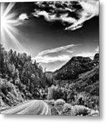 Deer Creek Road Metal Print