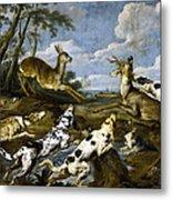 Deer Hunting Metal Print