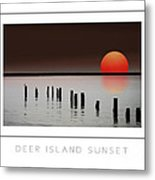 Deer Island Sunset Poster Metal Print