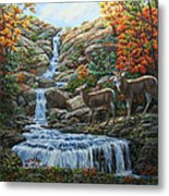 Deer Painting - Tranquil Deer Cove Metal Print by Crista Forest
