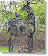 Deer Sculpture Metal Print