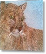 Deer Tiger Metal Print