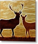 Deers Lookout Metal Print