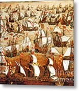 Defeat Of The Spanish Armada 1588 Metal Print