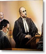 Defence Lawyer Edward Sapiano At Jennifer Pan Trial Metal Print