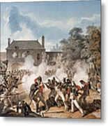 Defence Of The Chateau De Hougoumont Metal Print