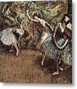 Degas, Edgar 1834-1917. Ballet Scene Metal Print by Everett