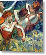 Degas' Four Dancers Up Close Metal Print
