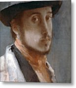 Degas Self-portrait Metal Print