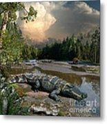 Deinosuchus Metal Print