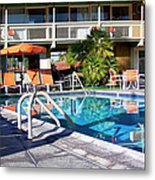 Del Marcos Pool Palm Springs Metal Print
