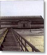 Del Monte Bathhouse From Pier California  Circa 1890 Metal Print