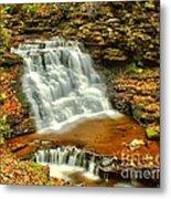 Delaware Falls - Ricketts Glen Metal Print
