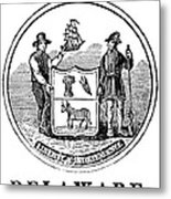 Delaware State Seal Metal Print