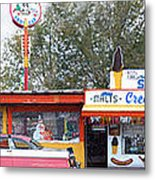 Delgadillo's Snow Cap Drive-in On Route 66 Panoramic Metal Print