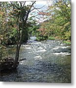 Delhi Rapids From The Bridge Metal Print