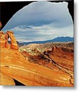 Delicate Arch Framed Metal Print