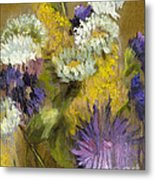 Delicate Aroma I -unframed-with Gold Leaf By Vic Mastis Metal Print by Vic  Mastis