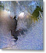 Delicate Ice - Digital Painting Effect Metal Print