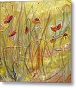 Delicate Poppies Metal Print