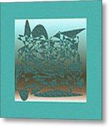 Delicate Turquoize Stroke Metal Print
