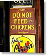 Delicious Chicken Dinners Sign Metal Print