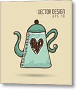 Delicious Coffee Design Metal Print