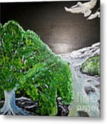 Delighted Sighting Metal Print