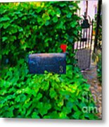 Deliver The Mail Metal Print
