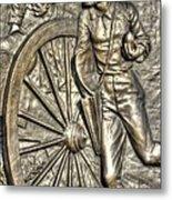Delivering The Charge - Detail-b 1st New York Light Artillery - Fitzhughs Battery K Gettysburg Metal Print