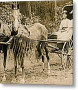 Delivering The Mail 1907 Metal Print