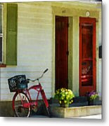 Delivery Bicycle By Two Red Doors Metal Print