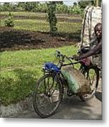 Delivery Man Metal Print