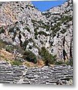 Delphi Stadium Ruins 2 Metal Print