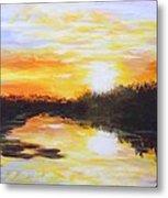 Delta Bayou Sunset Metal Print