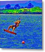 Delta Blue Wind Sailing Metal Print by Joseph Coulombe