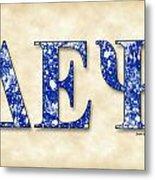 Delta Epsilon Psi - Parchment Metal Print