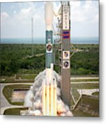 Delta II Launch With Space Telescope Metal Print