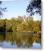 Delta Lake Reflections Metal Print