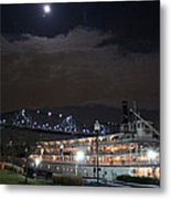Delta Queen Under A Full Moon Metal Print by Kathy  White