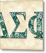 Delta Sigma Phi - Parchment Metal Print