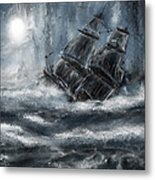 Deluged By The Wave Metal Print