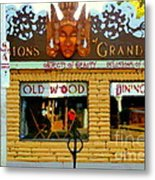 Delusions Of Grandeur Bank St Furniture Art Store On The Glebe Paintings Of Ottawa Scenes C Spandau Metal Print