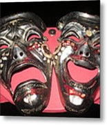 Masques / Tragedy/comedy Masks Metal Print
